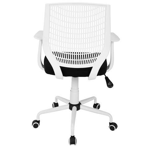 norfolk white black modern office chair eurway