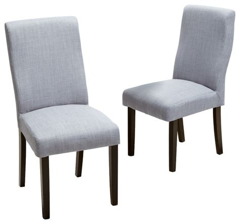 heath fabric dining chairs set of 2 grey contemporary