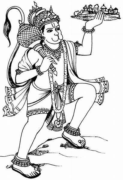 Hanuman Clipart Ji Lord Clip Drawing Sketch