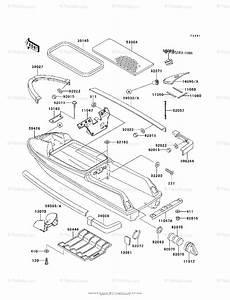 Kawasaki Jet Ski 1995 Oem Parts Diagram For Hull