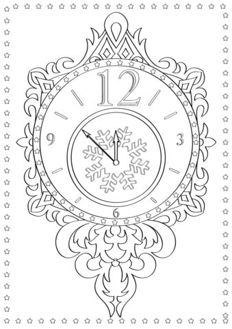 year clock coloring pages    print