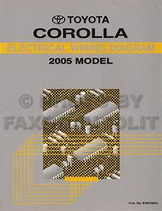 2005 Toyota Corolla Wiring Diagram Manual Original