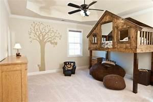 Lit Maison Bois : le lit sur lev designs amusants ~ Premium-room.com Idées de Décoration