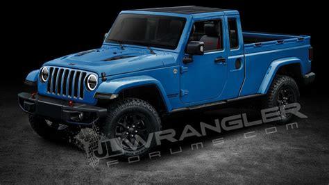 2019 jeep wrangler pickup truck 2019 jeep wrangler pickup rendering motor1 com photos