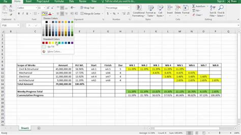 curve  excel  ms project