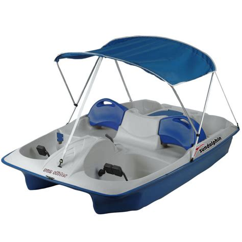Used Sun Dolphin Pedal Boat For Sale by Sun Dolphin Sun Slider Pedal Boat With Canopy Blue West