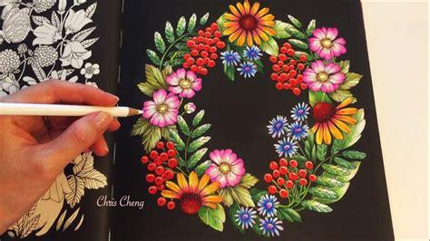 garden blomstermandala coloring book coloring