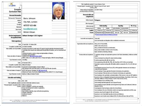 political resume template word why the europass is bad for your career martin jee s