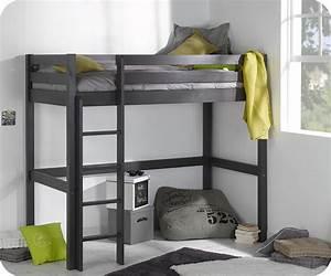 lit enfant mezzanine cargo gris anthracite 90x190 cm With tapis oriental avec lit mezzanine avec canapé