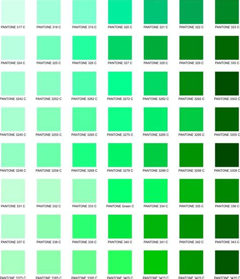 receptor cells in the retina responsible for color vision are green color chart green color chart with names pictures