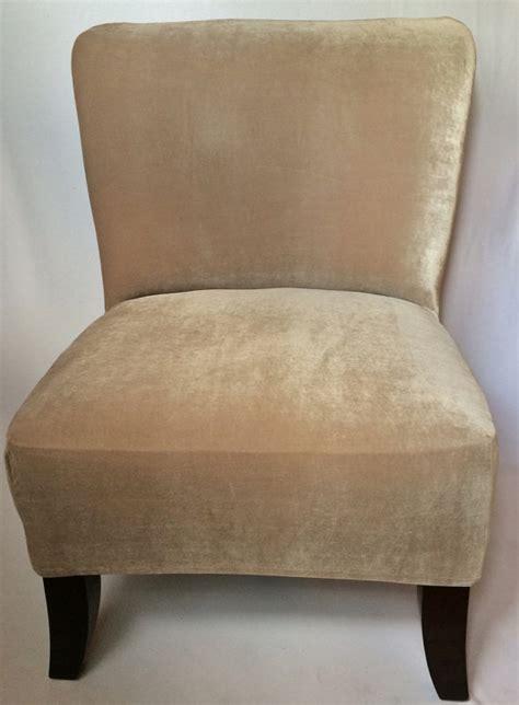 Armless Chair Slipcover Stretch by Slipcover Beige Velvet Stretch Chair Cover For Armless Chair