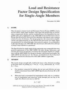 Design Of Single Angles Pdf