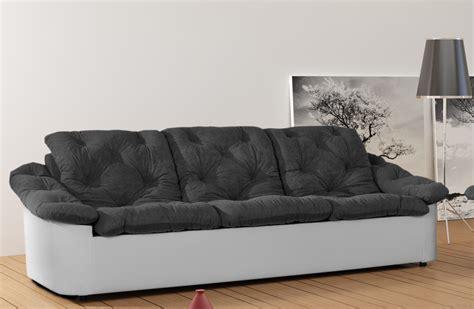 canap en tissu gris canapé fixe 3 places tissu gris blanc yolinda canapé