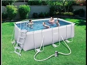 Frame Pool Rechteckig : beste schwimmbecken mit pumpe bestway power steel rectangular frame pool set youtube ~ Frokenaadalensverden.com Haus und Dekorationen