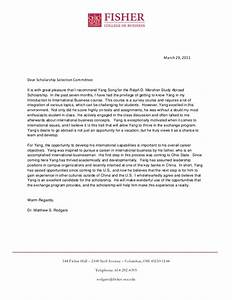 ralph d mershon study abroad scholarship recommendation With letter study