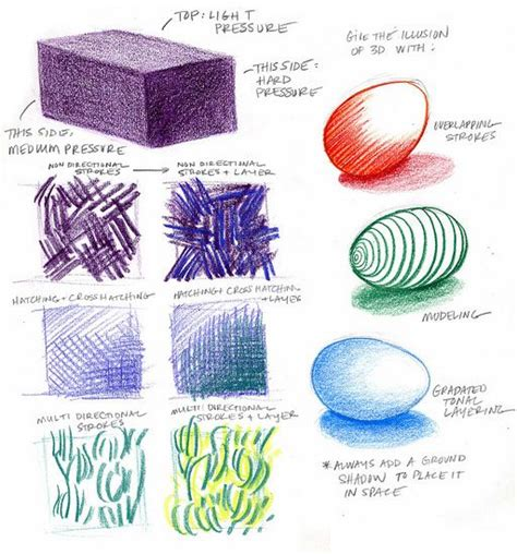Coloring Techniques by Basic Colored Pencils For Architecture Rendering Drawing