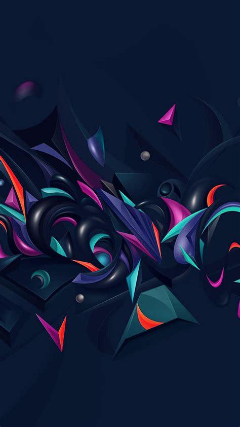 vq abstract art pattern rainbow blue wallpaper