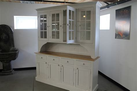 White Farmhouse Hutch From Reclaimed Wood   ECustomFinishes