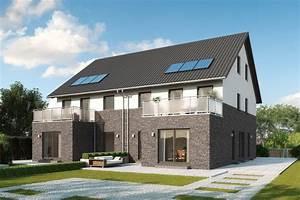 Doppelhaus Grundriss Beispiele : doppelhaus mit einliegerwohnung klinker putz fassade ~ Lizthompson.info Haus und Dekorationen