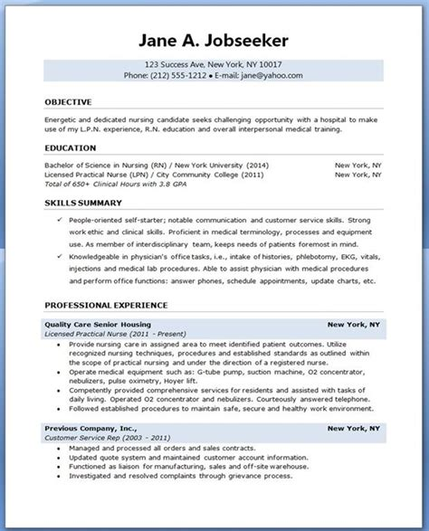 Nursing Student Resume Template by Sle Resume For Nursing Student Creative Resume Design