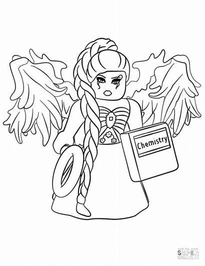Coloring Roblox Pages Printable Royale Princess Noob
