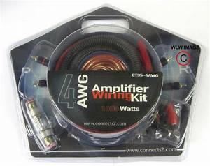 1600watt Complete 4 Awg Gauge Car Amplifier Amp Wiring Kit