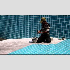 How To Lay Swimming Pool Tiles  Thethreetouch Asia
