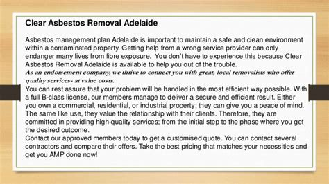 clear asbestos management plan adelaide