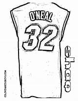 Coloring Basketball Jersey Shaq Nba Printable Boys Template Yescoloring Lego Players Player Colouring Neal Teams Printables Wars Sketch Credit Larger sketch template