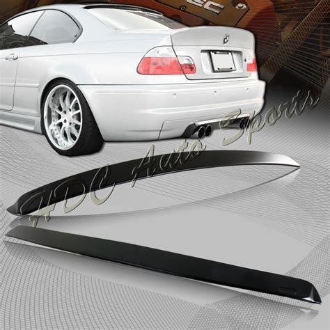 For Bmw 3series E46 Coupe Abs Prime Black Rear Window