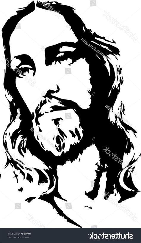 Abstract Jesus Black And White by Best Free Graphic Of Jesus Vector Images 187 Free