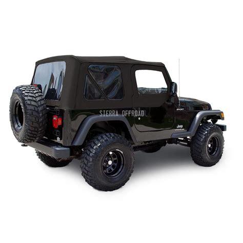 sierra offroad jeep wrangler tj soft top    black