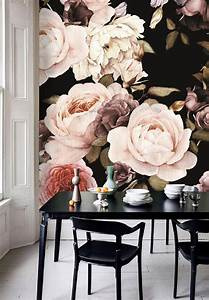 dutch dark vintage floral removable wallpaper wall mural With markise balkon mit vintage tapete floral