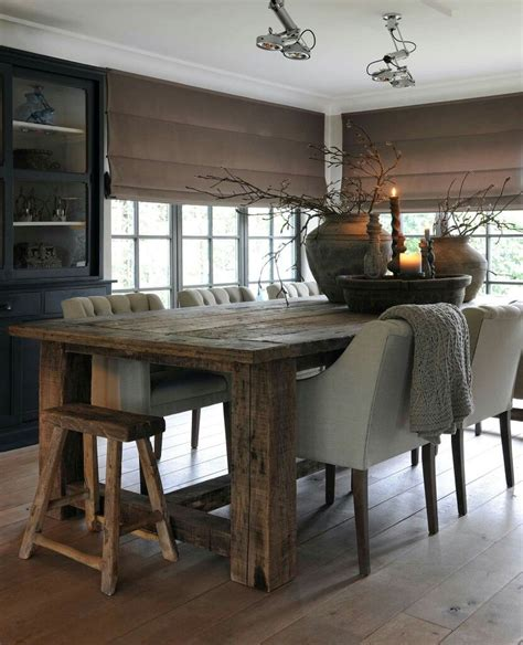 rustic dining room table sets long rustic dining room tables