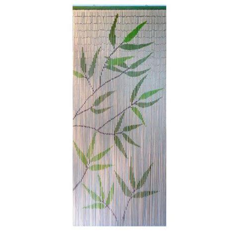 rideau de porte bambou imprim 233 feuilles rideau de porte