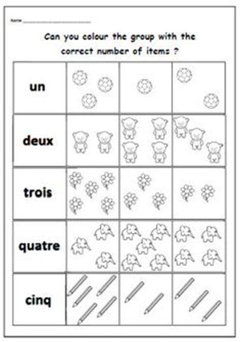 kindergarten beginners french worksheet printable school