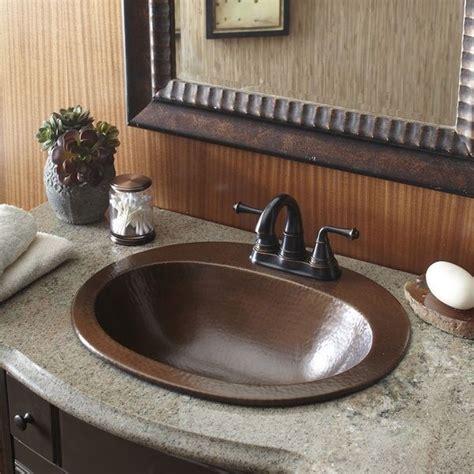 Bathroom Bowl Vanities by Copper Bathroom Sink Bath Vanity Hammered Finish Oval Bowl