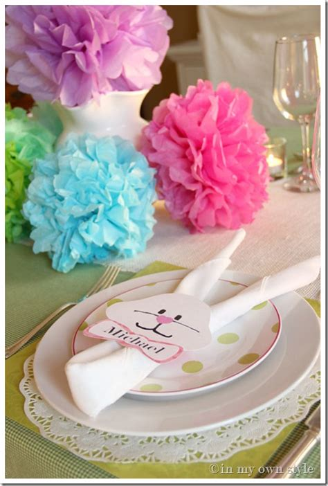 easter bunny napkin ring template    style
