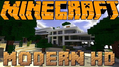 Minecraft Modern Hd Texture Pack Review Youtube