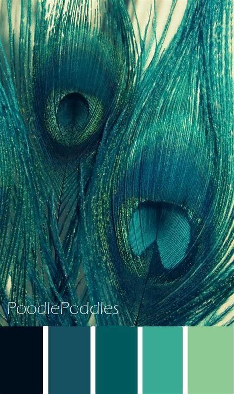 peacock color inspiration color palette teal colors
