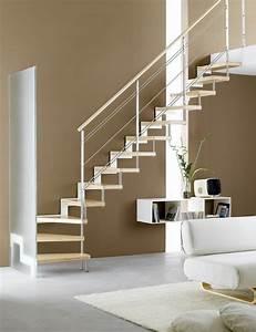 Echelle D Escalier : escalier quart tournant limon lat ral marches en bois ~ Premium-room.com Idées de Décoration
