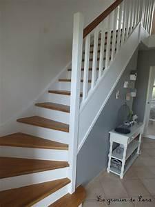 escalier broc et patine le grenier de sara With repeindre un escalier en blanc 3 conseil pour couleur escalier et portes