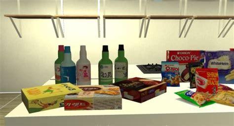 Korean Snacks Soju Sims4 Korean Snacks Sims 4 Kitchen