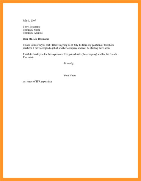 and sweet resignation letter sop exle