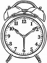 Clock Alarm Coloring Clip Wecoloringpage Printable Cartoonized Printables Ingrahamrobotics sketch template