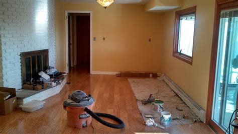 Interior Painting And Hardwood Floor Installation By Monk