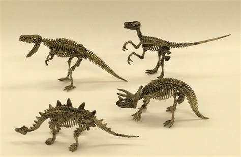 4-pack Dinosaur Excavation Kit Package -- Dig Out & Build