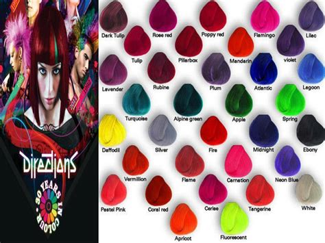 Directions Semi-permanent Hair Colour Dye Tubs All Colours
