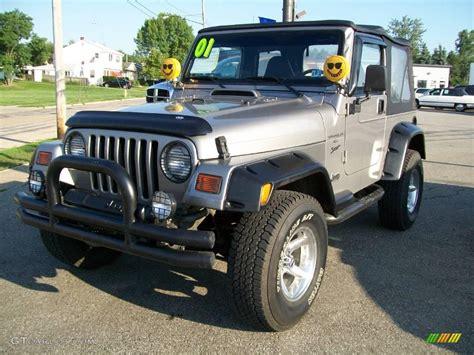2001 silverstone metallic jeep wrangler sport 4x4 15516704 photo 6 gtcarlot car color