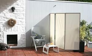 Sichtschutz paravent im garten auf terrasse und balkon for Seitlicher sichtschutz terrasse